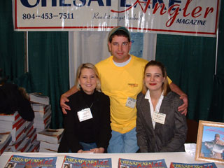 Karen and Carla of Chesapeake Angler magazine, 2003