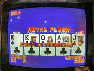 Sharon's first-ever Royal Flush on a 50 cent VP machine
