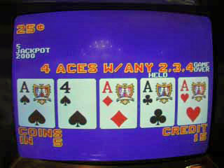 Aces with a kicker, held one ace -- Sharon's