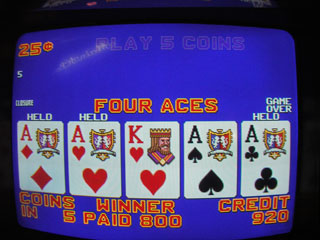 And a third set of Aces later on the same machine ...