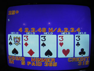 This hand followed by a few min. a set of dealt 5s...