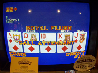 Bob's first royal flush of the trip, held 4 legs at the Fremont