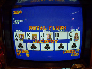 Lisa's Royal Flush on A4, late at night