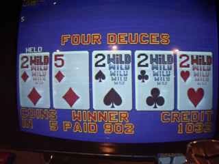 Annie's $250 for Deuces on a Bonus Deuces Wild at the Fremont
