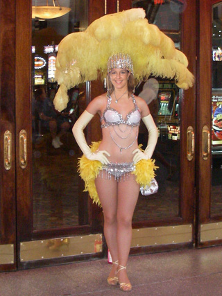 Lil Lisa trying out for showgirl temp work at the Golden Gate...