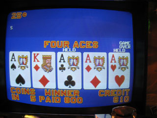 Must have been my first set of Aces of the trip...