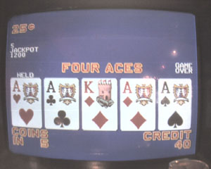 Bob's only set of White Hot aces, holding one...