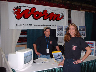 Traci and Captain Drew during a winter show, 2002